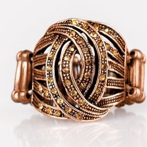 CUT AND RUNWAY COPPER RING